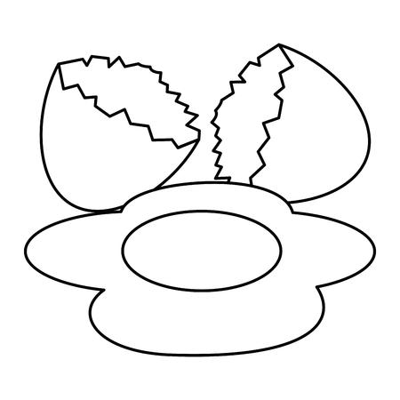 Huevo agrietado icono aislado diseño ilustración vectorial