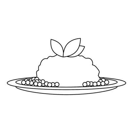 dish with mashed potatoes vector illustration design Illustration