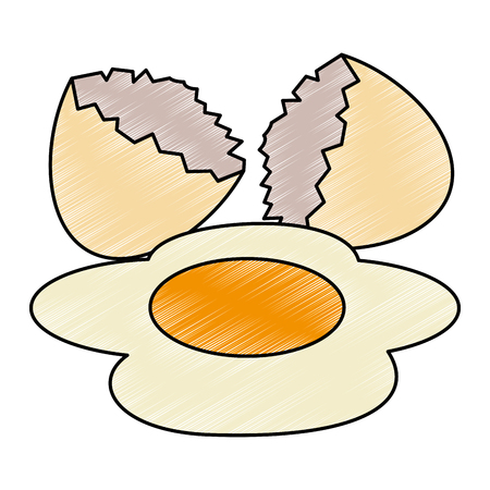egg cracked isolated icon vector illustration design 写真素材 - 106518254