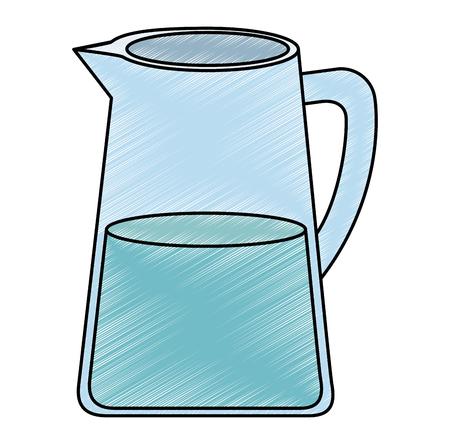 Pot à eau icône isolé vector illustration design Vecteurs