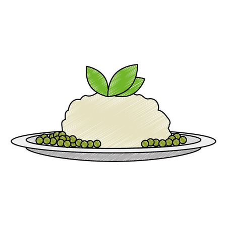 dish with mashed potatoes vector illustration design Ilustração