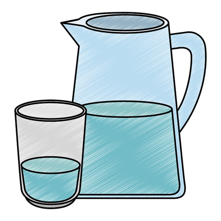 water jar isolated icon vector illustration design