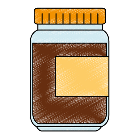 sweet jam bottle icon vector illustration design