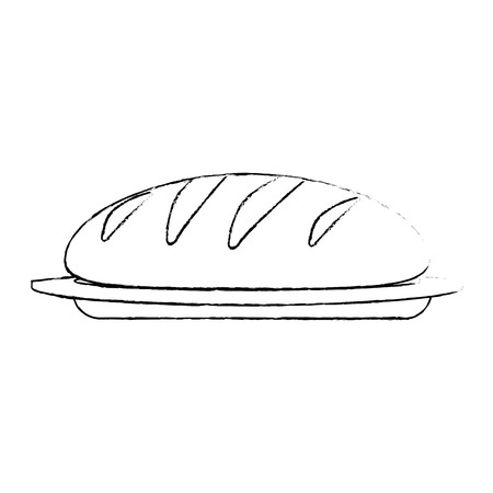 fresh bread isolated icon vector illustration design Standard-Bild - 106518268
