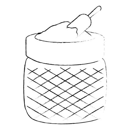 flour sack ingredient icon vector illustration design Standard-Bild - 106480823
