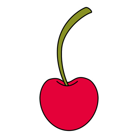 fresh cherry healthy food vector illustration design Çizim