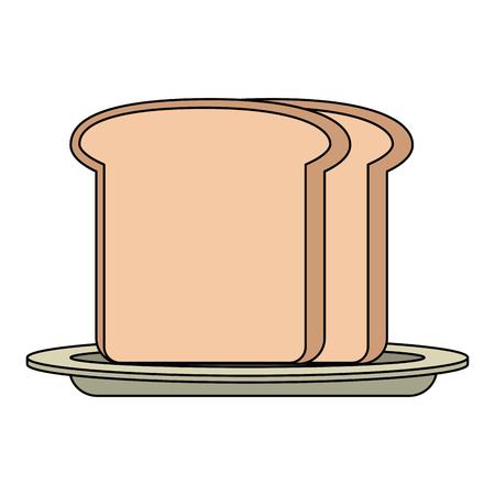 fresh bread toast isolated icon vector illustration design