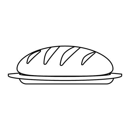 fresh bread isolated icon vector illustration design