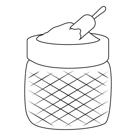 flour sack ingredient icon vector illustration design