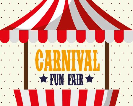 booth carnival fun fair festival poster retro vector illustration