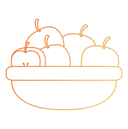 kitchen bowl with apples vector illustration design 일러스트
