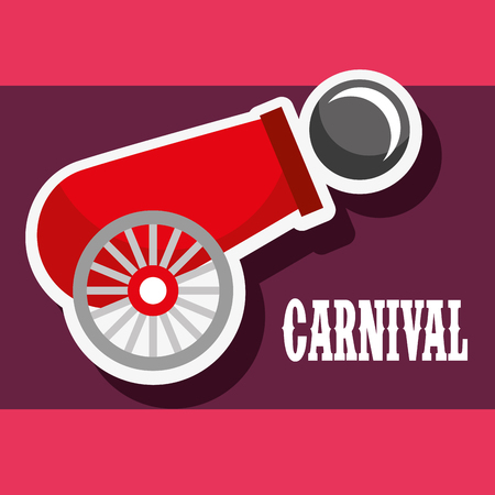 cannon ball poster carnival fun fair festival vector illustration