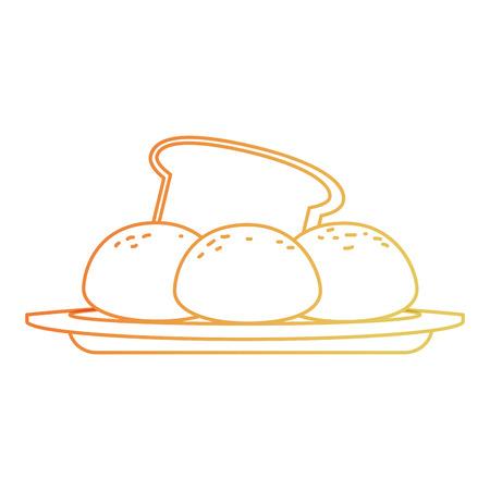 fresh bread with potatoes vector illustration design Archivio Fotografico - 111927398