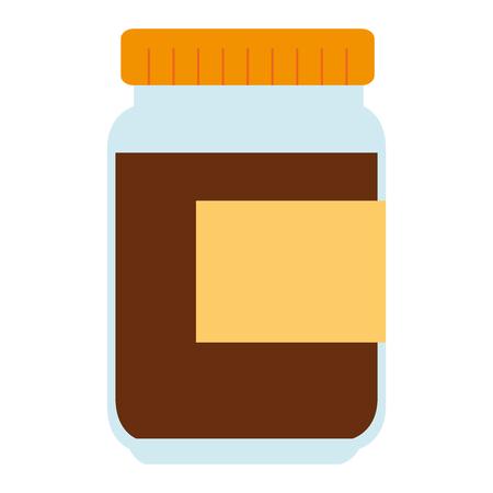 sweet jam bottle icon vector illustration design
