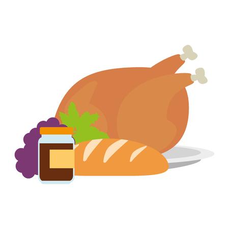 chicken meat and healthy food vector illustration design Illustration