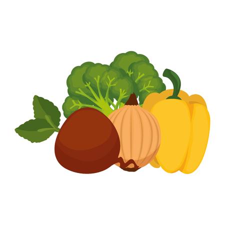 fresh pepper and vegetables vector illustration design 스톡 콘텐츠 - 111927455