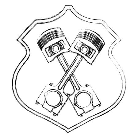 V8 Engine Piston Drawing