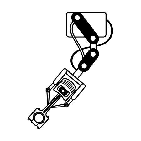 robot arm industry technology production vector illustration
