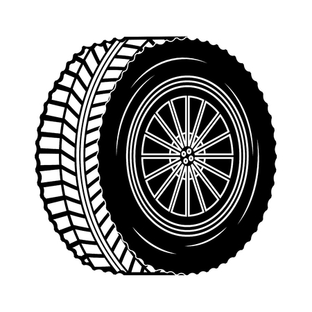 industry automotive wheel car part vector illustration