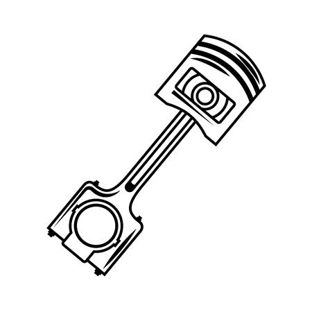 industry automotive piston part engine vector illustration