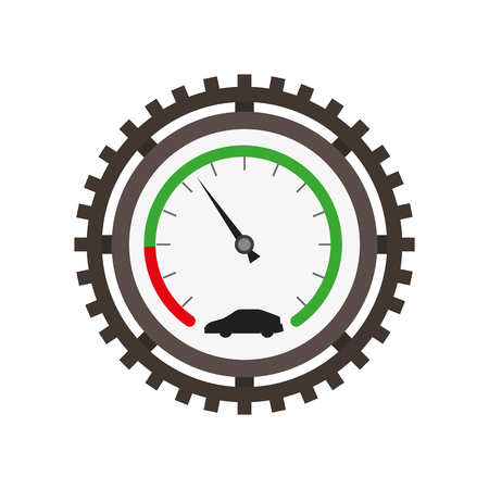 speedometer car gear mechanical industry automotive vector illustration Stock Illustratie