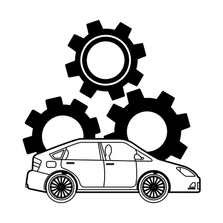car gear engine industry automotive vector illustration Illustration
