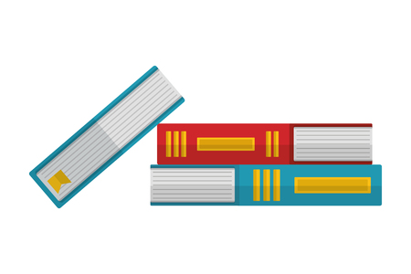 pile of library books isolated icon vector illustration design