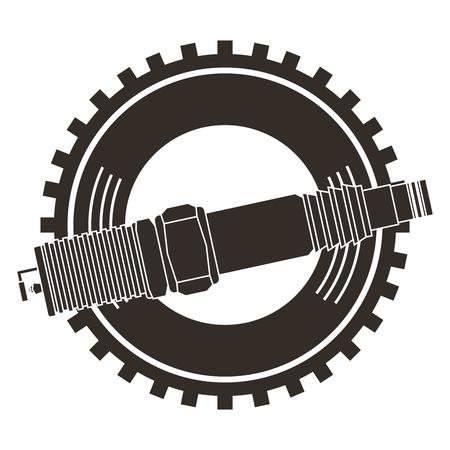 spark plug spare part industry automotive vector illustration Illusztráció