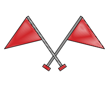 crossed flag progress success finish symbol vector illustration Illustration