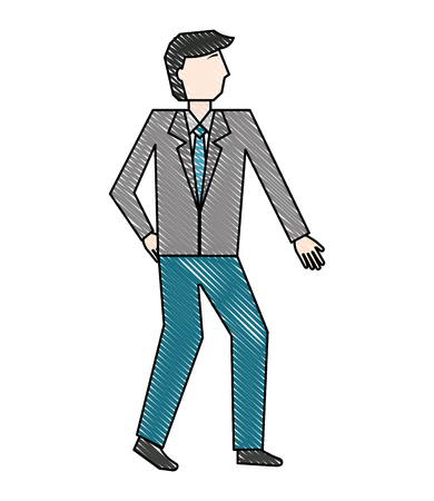 businessman in suit character manager vector illustration