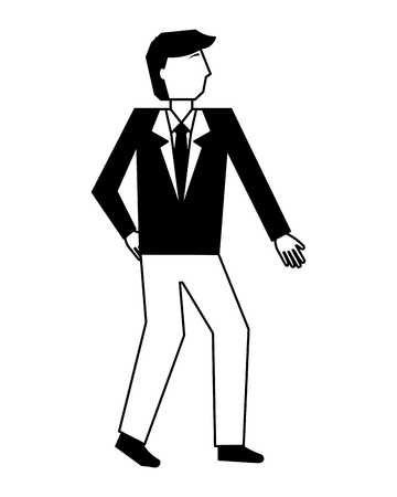 businessman elegant avatar character vector illustration design Illustration