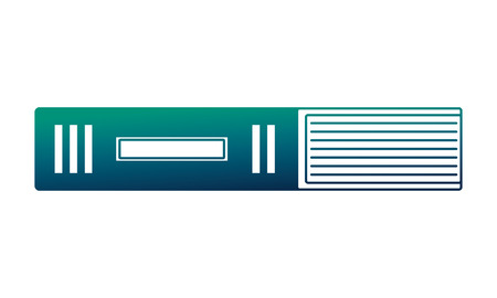 library book isolated icon vector illustration design