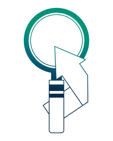 search magnifying glass with arrow up icon vector illustration design Stock Illustratie
