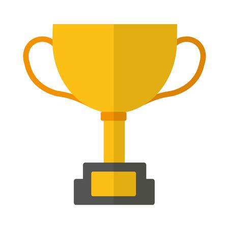 trophy star award prize competition vector illustration Ilustração