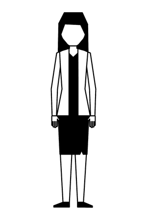 business woman character in skirt and jacket vector illustration vector illustration 向量圖像