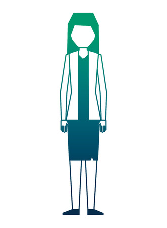 business woman character in skirt and jacket vector illustration vector illustration neon design 向量圖像