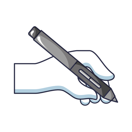 hand with pen ink write icon vector illustration design