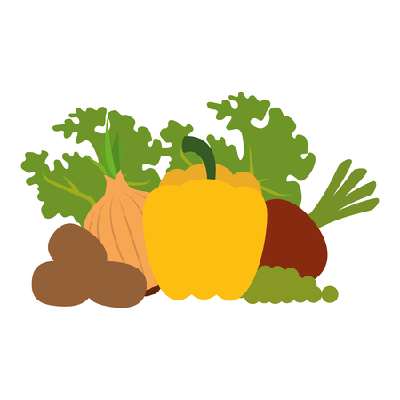 fresh vegetables vegetarian food vector illustration design 일러스트