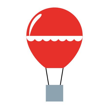 balloon air hot flying vector illustration design