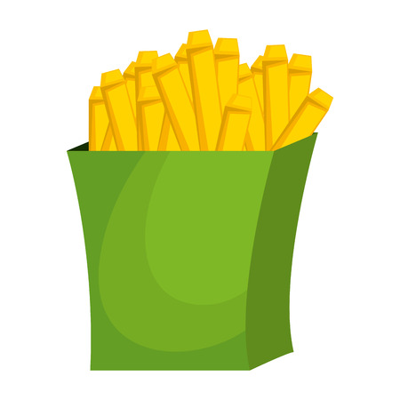 delicious french fries icon vector illustration design Ilustrace