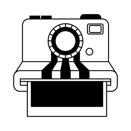 camera photographic instant isolated icon vector illustration design