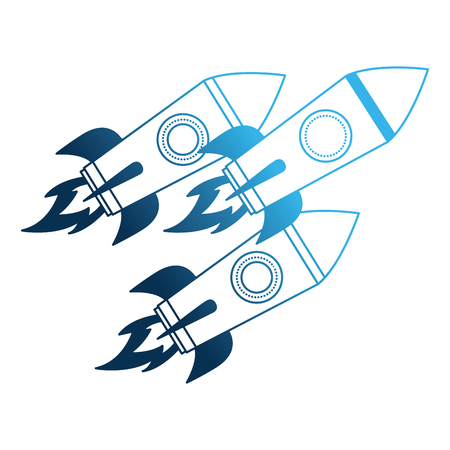 startup rockets isolated icon vector illustration design