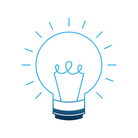 light bulb isolated icon vector illustration design Ilustrace