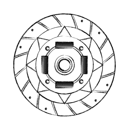 clutch plate engine part vector illustration design Фото со стока - 106555453