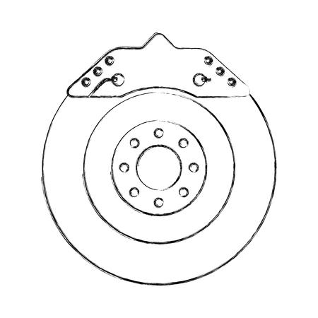 brake disc engine part vector illustration design Illustration