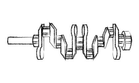 crankshaft engine piece icon vector illustration design