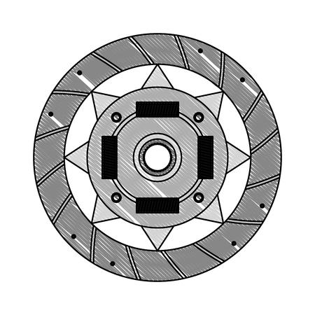 clutch plate engine part vector illustration design Illustration