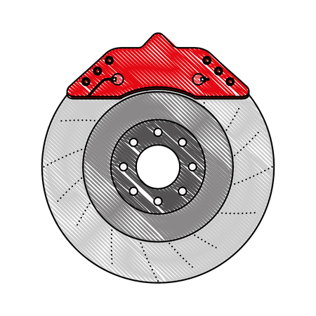 brake disc engine part vector illustration design Illustration