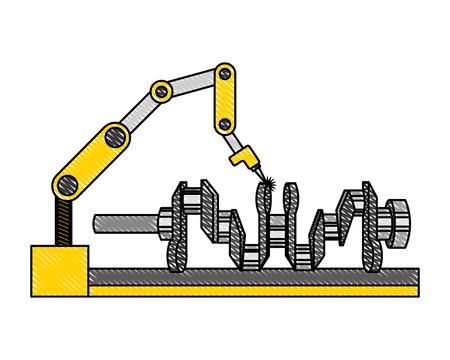 engine assembly machine icon vector illustration design