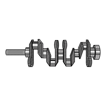 crankshaft engine piece icon vector illustration design